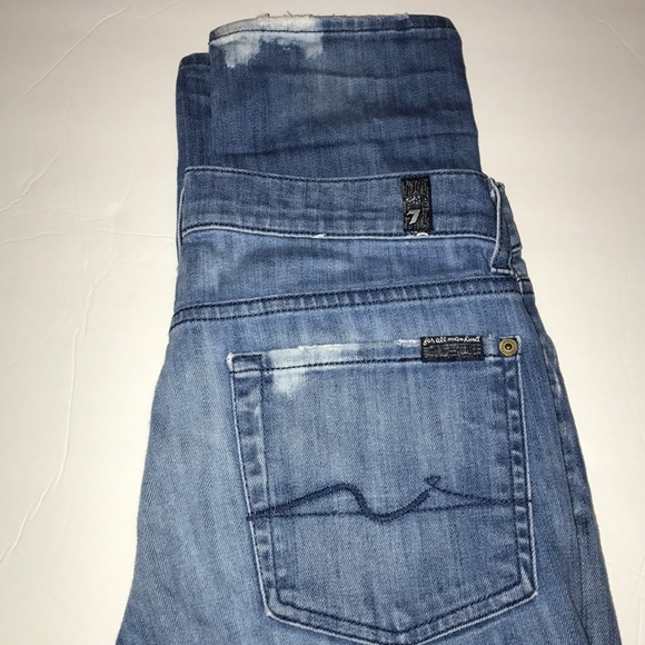 7 For All Mankind Denim - 7 for all mankind distressed denim Roxanne size28